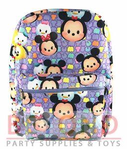 Disney Tsum Tsum All Print School Backpack for Kids - Purple