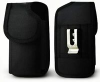 For ZTE Obsidian / Z820 Rugged Nylon Pouch Plus Cell Phone With Cover Size Black