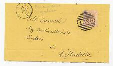 W196-VENETO-ABANO ANNULLO A SBARRE E DOPPIO CERCHIO