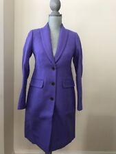New J.Crew Parke Topcoat Women's Coat G7790 Wool Winter $350 Ice Purple size 4
