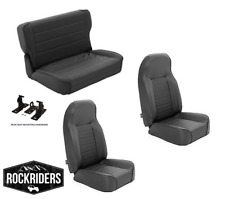 1976-1995 Jeep Wrangler CJ7 Front and Rear Complete Seat Combo Set of Three