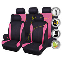 Car Seat Covers Universal washable pink rear bench split 40/60 50/50 Polyester