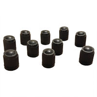 100X Black Plastic Replacement Valve Caps Cars ATV Schrader Tire Caps. L7L5 N5D7