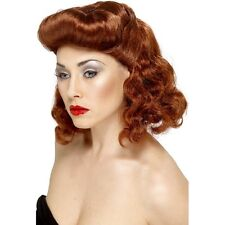 Women's Auburn Pin Up Girl Wig Loose Curls 40's 50's Classy Hen Vintage Model