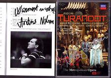 DVD Marcello GIORDANI & Andris NELSONS Signiert PUCCINI TURANDOT Guleghina Ramey