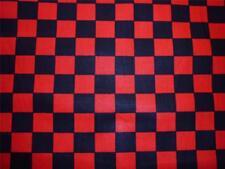 Cabo Rojo Negro Check plazas de tela a cuadros