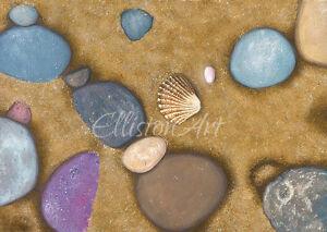 Sea Shell Watercolour Seaside Beach Art Giclee Print Whitby Yorkshire Medium