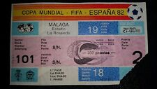 1982 world cup ticket Original New Zealand v SOVIET UNION @malaga