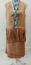 Ladies Squaw Indian Pocahontas Fancy Dress Outfit Costume Size 12 Accessories