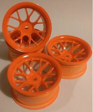 Rc Car 1/10 Drift Y Spoke Rims Wheels 9mm Offset fits Tamiya HPI Orange 12mm hex