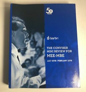 2019 NEW Barbri Bar Exam UBE Conviser Mini Review -MBE MEE CMR -Priority ✴