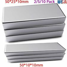 Strong Magnets 50x25x10 Mm N52 Grade Neodymium Rectangle Block Magnet Bar Fridge