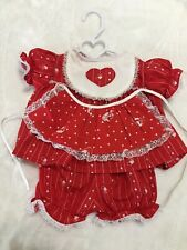 Vintage Made For Cabbage Patch Kids Clothes Doll Cpk Outfit Set Dress Apron Lot