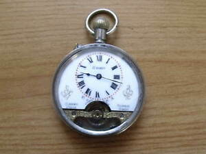 8 DAY HEBDOMAS STYLE POCKET WATCH - c1910 - GOOD WORKING ORDER