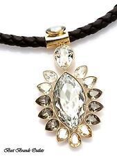 SWAROVSKI Swan Signed Alabaster Pendant Necklace # 5037513 NEW in original box!