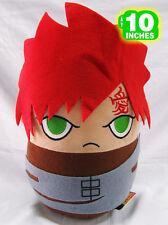 BIG 25CM Naruto Gaara Plush Stuffed Doll Red Brown Grey NAPL0019