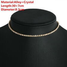Gold Silver Gothic Women Sequins Beads Choker Necklace Simple Chain Collar Gift
