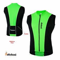 Didoo Mens Cycling Jersey Sleeveless shirts High Visibility Running Sports