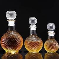 Crystal Whiskey Wine Shot Glass Bottle &Cap Stopper Drinking Bar Decanter