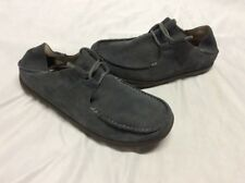 Men's Olukai Ohana Lace Up sneakers suede leather Size 8 Mustang Gray Eur 40