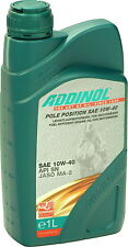 ADDINOL Pole Position SAE 10W-40 synthetisch Motorrad Motoröl JASO MA2 API SN 1L