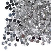 1000 Clear Crystal Flat Back Rhinestones Gems Diamante Nail Art Crafts 1.5 - 6mm