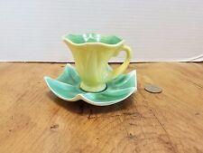 KIPP Ceramics Demitasse Tea Cup & Saucer Squash Art Pottery