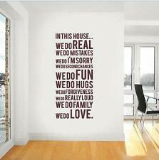 """Family House Rules """"we do"""" wall stickers Decal Removable Art Vinyl Decor Home Au"""