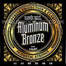Ernie Ball 2568 Aluminum Bronze Light Gauge Acoustic Guitar Strings .011 - .052