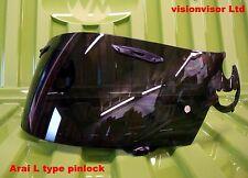 Pinlock aftermarket arai noir l type visière quantum NR3 chaser condor sal