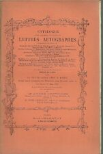 CATALOGUE LETTRES AUTOGR. La FAYETTE KLEBER DUROC 1910