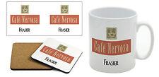 Frasier-CAFE nervosa-Tazza e Coaster Set