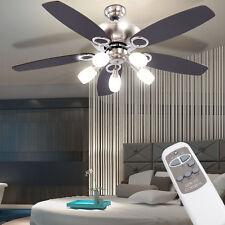 Luxus Decken Ventilator LED Wohnraum Lüfter Küchen Lampe Fernbedienung Kühler