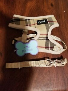 NEW Puptech Soft Mesh Small Dog Harness  Padded Plaid NWT