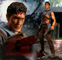 Mezco Toyz 1:12 Evil Dead 2: Dead by Dawn Ash Action Figure Model In Stock NEW