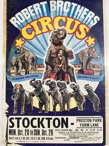 Robert Brothers Stockton Original Vintage/Retro circus poster