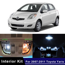 8x Xenon White LED Lights Interior Package Kit For 2007-2011 Toyota Yaris