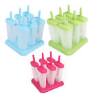 6cup Frozen Ice Cream Pop Mold Popsicle Maker Lolly Mould Tray Pan Home DIY Tool