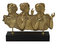 Ladies in Blue Bronze Sculpture - Palace of Knossos Fresco - Minoan period