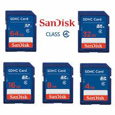 SanDisk 8GB 16GB 32GB SDHC SD Card Standard Class 4 Flash Camera Card