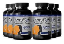 Reverse Hair Loss Supplements - Anti Gray Hair Solution 1500mg - PABA 100 6B