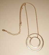 """Sterling Silver Concentric Circles Geometric Necklace Thailand 16""""-18.25"""" MWS"""