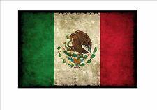 Messicano INVECCHIATO FLAG metallo segno Segno Stile Vintage Bandiera Stile Grunge Bandiera