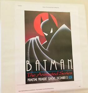 Batman the Animated Series Notebook of ads clippings Articles
