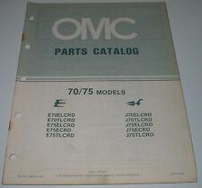 Ersatzteilkatalog Parts Catalog OMC 70 / 75 Models Boot Engine Bootsmotor 1984!