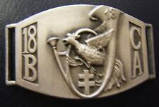 18° BCA Coq Guerre 1939 Forteresse Gourmette Chasseurs Alpins ORIGINAL WWII