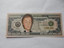 Paul McCartney Novedad $1 Million Dollar Note Bill $1,000,000 Mac cantante de Los Beatles