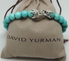 DAVID YURMAN Spiritual Beads Bracelet Turquoise Sterling Silver Lobster Clasp