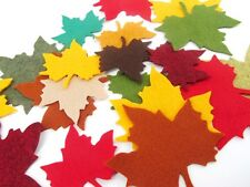 25 Assorted Autumn Leaf Wool Blend Felt Die Cuts