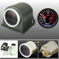 52mm Turbo Boost Pressure Pointer Gauge Meter Smoked Dials 0-30Psi Pods LED Kits